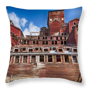 Mining Glory In Red Throw Pillow