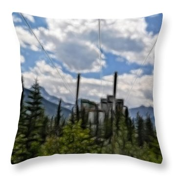 Mining Plant Fractal Throw Pillow