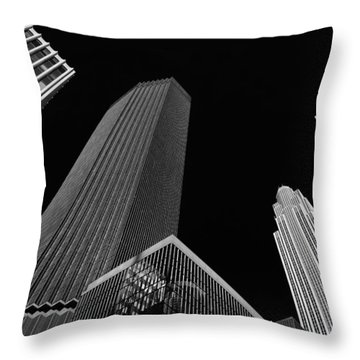 Minneapolis After Dark Throw Pillow