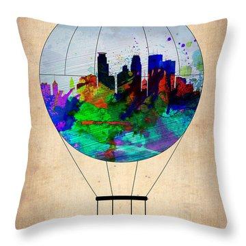 Minneapolis Air Balloon Throw Pillow