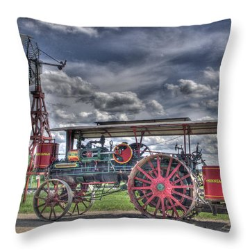 Minneapolis At The Windmill Throw Pillow by Shelly Gunderson