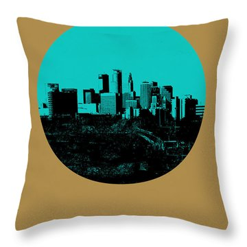 Minneapolis Circle Poster 1 Throw Pillow