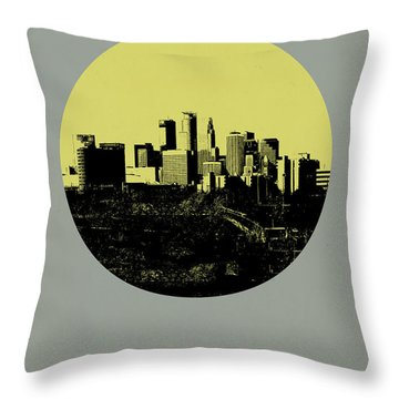 Minneapolis Circle Poster 2 Throw Pillow