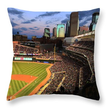 Minnesota Twins Minneapolis Skyline Target Field Throw Pillow