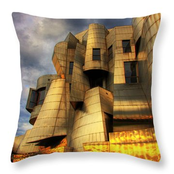 Minneapolis Skyline Photography Weisman Museum Throw Pillow