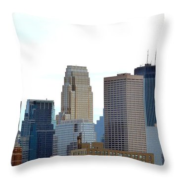 Throw Pillow featuring the photograph Minneapolis by Will Borden