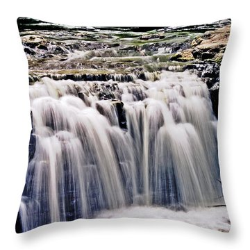 Minneopa Falls Upper Throw Pillow by Mark Russell
