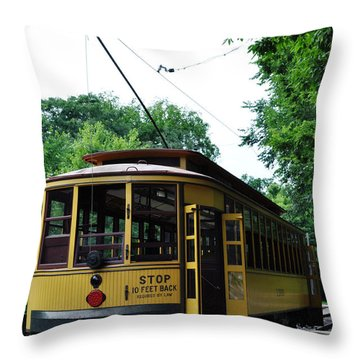 Minnesota Streetcar Museum Throw Pillow