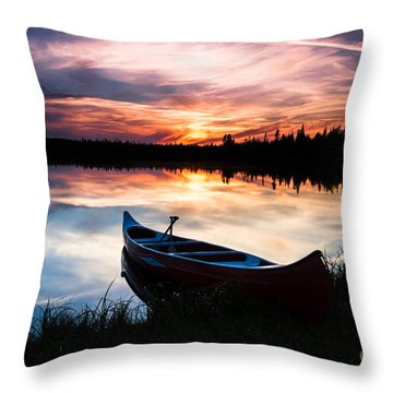 Minnesota Sunset Throw Pillow