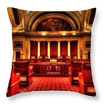 Minnesota Supreme Court Throw Pillow by Amanda Stadther