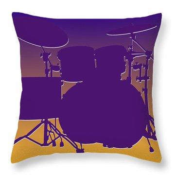 Minnesota Vikings Drum Set Throw Pillow by Joe Hamilton