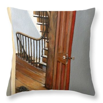 Minnie Crossing The Threshold  Throw Pillow by Eileen Patten Oliver