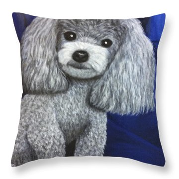 Throw Pillow featuring the painting Minnie by Karen Zuk Rosenblatt