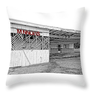 Minnow Shack Throw Pillow