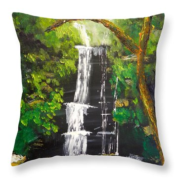 Minnumurra Falls Throw Pillow