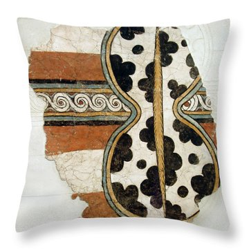 Minoan Livestock Painting Throw Pillow by Ellen Henneke