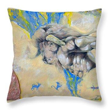 Minotaur Throw Pillow by Derrick Higgins