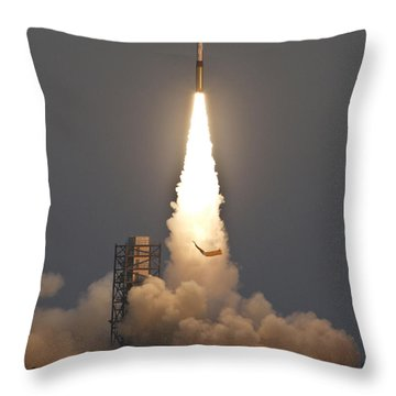 Minotaur I Launch Throw Pillow by Science Source