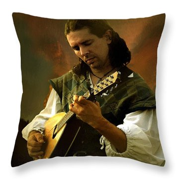 Minstrel Angelic Throw Pillow by RC deWinter