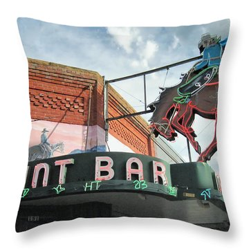 Mint Bar Sheridan Wyoming Throw Pillow