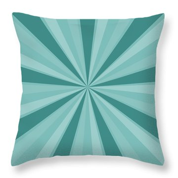 Mint Teal Sun Burst Throw Pillow