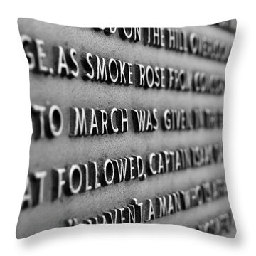 Minute Man Statue Plaque 2 Throw Pillow