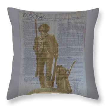 Minuteman Constitution Throw Pillow