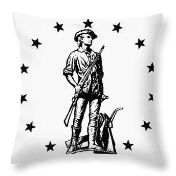 Minuteman Throw Pillow by Granger