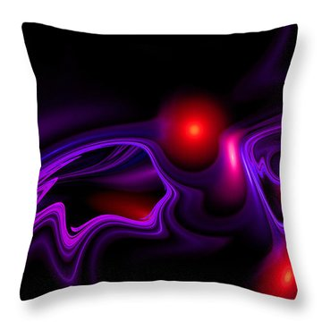 Throw Pillow featuring the digital art Miracle Beads by Hanza Turgul