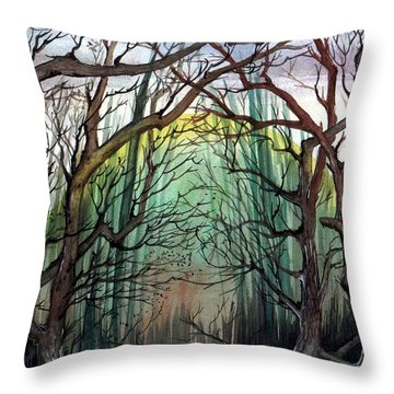 Miracle Forest Throw Pillow