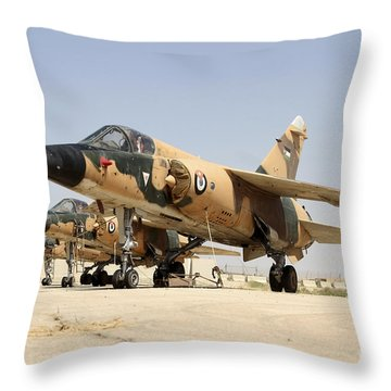 Mirage F.1 Fighter Planes Of The Royal Throw Pillow by Ofer Zidon