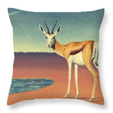 Mirage Throw Pillow by James W Johnson