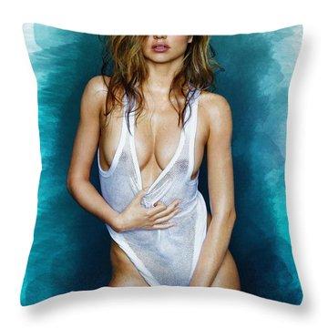 Miranda Kerr 01 Throw Pillow