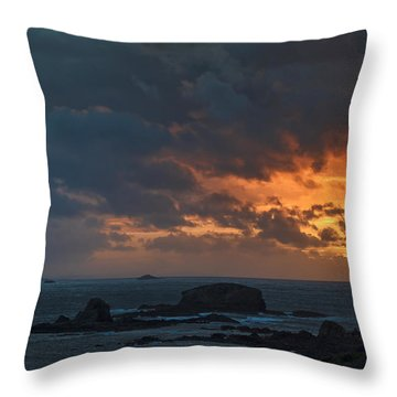 Mirandas Islands Galicia Spain Throw Pillow