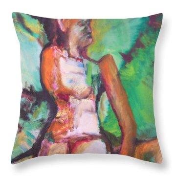 Miriam's Punishment Throw Pillow by Esther Newman-Cohen