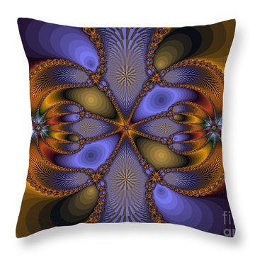 Mirror Butterfly Throw Pillow