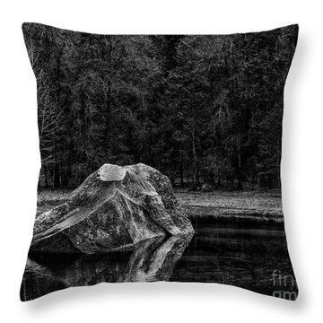 Mirror Lake Boulder Throw Pillow