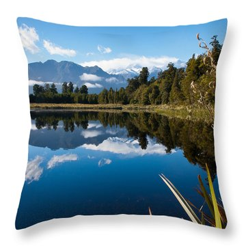 Mirror Landscapes Throw Pillow