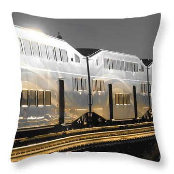 Mirror Of The Winter Sun Throw Pillow