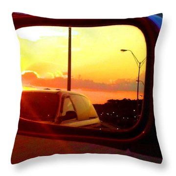 Throw Pillow featuring the photograph Mirror Sunset by Tyson Kinnison