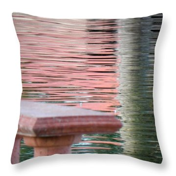 Throw Pillow featuring the photograph Mirror To The Soul by Deb Halloran