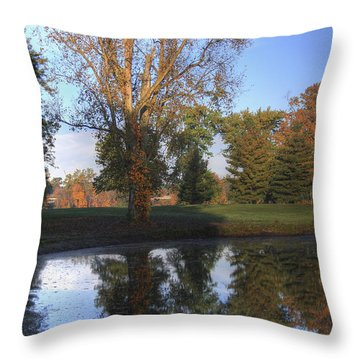 Mirrored Pines Throw Pillow