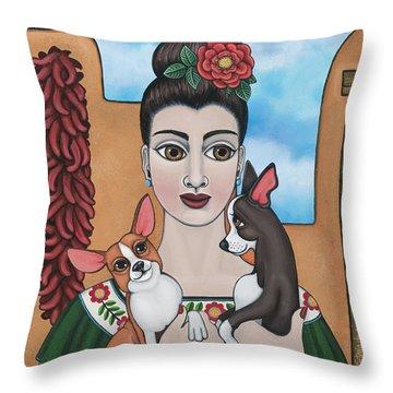 Mis Carinos Throw Pillow