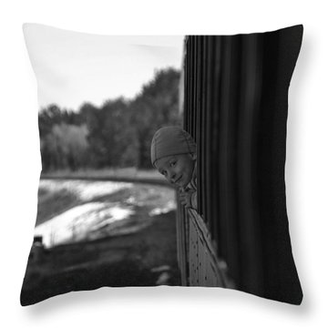 Throw Pillow featuring the photograph Mischief by Jeremy Rhoades
