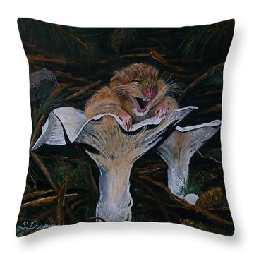 Mischievous Molly Throw Pillow by Sharon Duguay