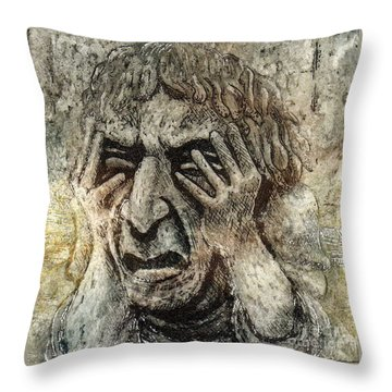 Misery Throw Pillow by Suzette Broad