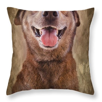 Misha Throw Pillow by Barbara Manis