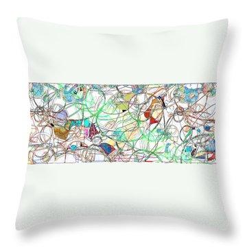 Throw Pillow featuring the digital art Mishagas by Gabrielle Schertz