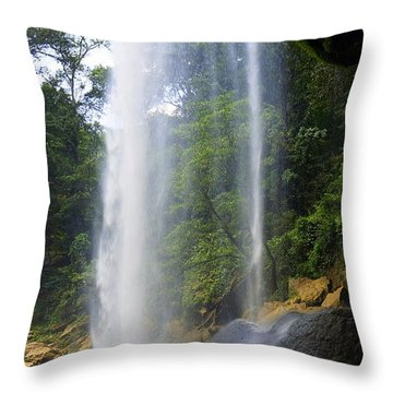 Misol Ha Waterfall 3 Throw Pillow