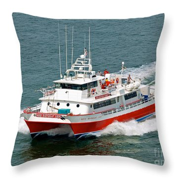 Miss Barnegat Light Throw Pillow